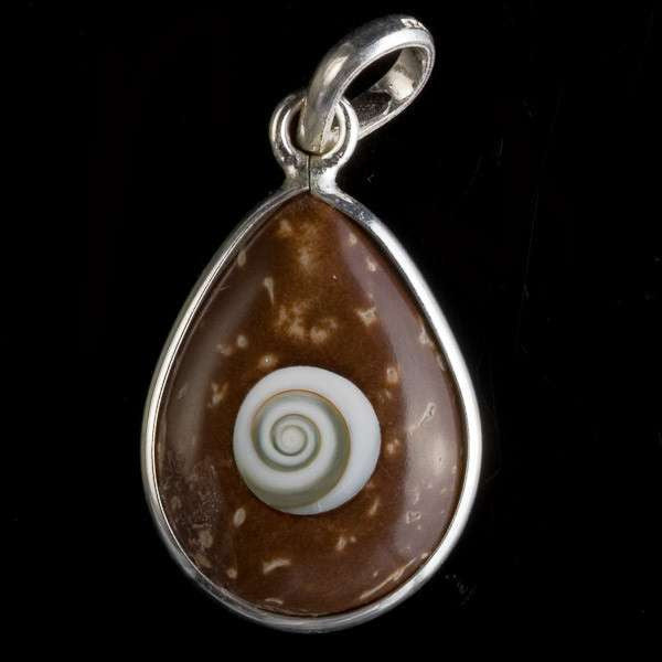 Coconut And Shiva Eye Drop Pendant - Tribu