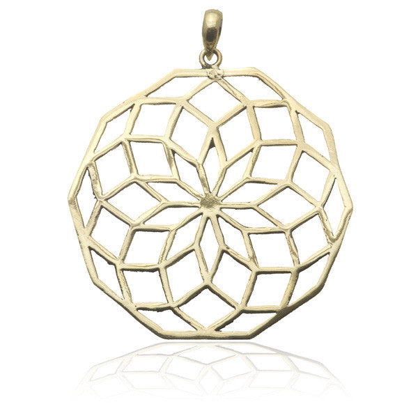 Star Of Life Brass Pendant - Tribu