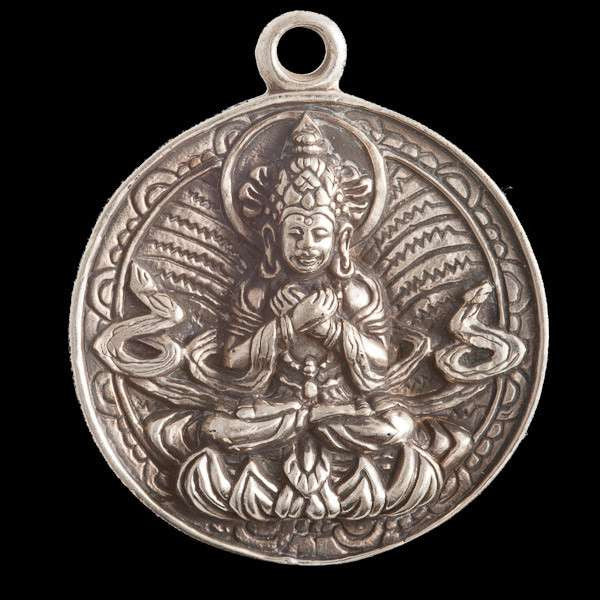Silver Coated Brass Shiva Pendant - Tribu