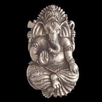 Silver Coated Brass Ganesh Pendant - Tribu