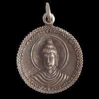 Silver Coated Brass Buddha Pendant - Tribu