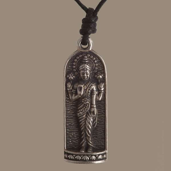 Silver Coated Shiva Brass Pendant With Ohm At The Back - Tribu  - 1