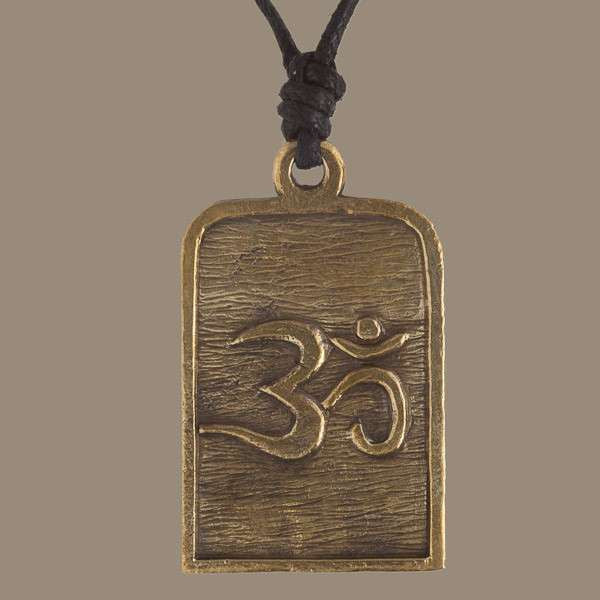 Durga on a Tiger Rustic Brass Pendant - Tribu  - 2