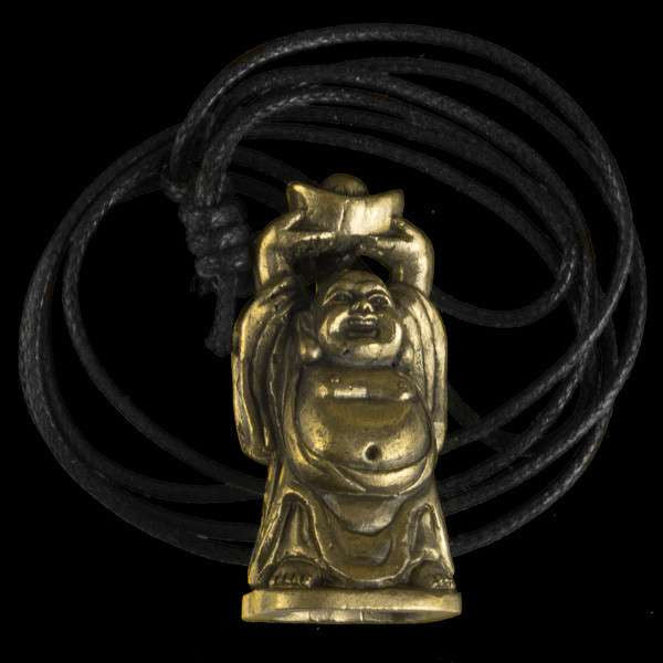 Brass Laughing Buddha Pendant - Tribu