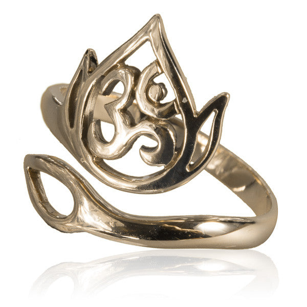 Adjustable Ring with Decorated Ohm - Tribu