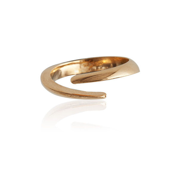 Delicate Gold Plated Silver Ring