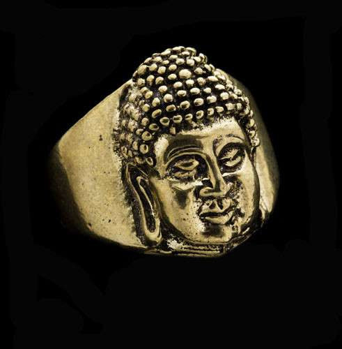 Buddha Face Brass Ring - Tribu  - 1