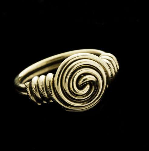 Tribal Style Brass Ring - Tribu