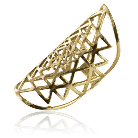 Sri Yantra Brass Ring - Tribu  - 1
