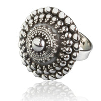 Ornamented Silver Ring - Tribu