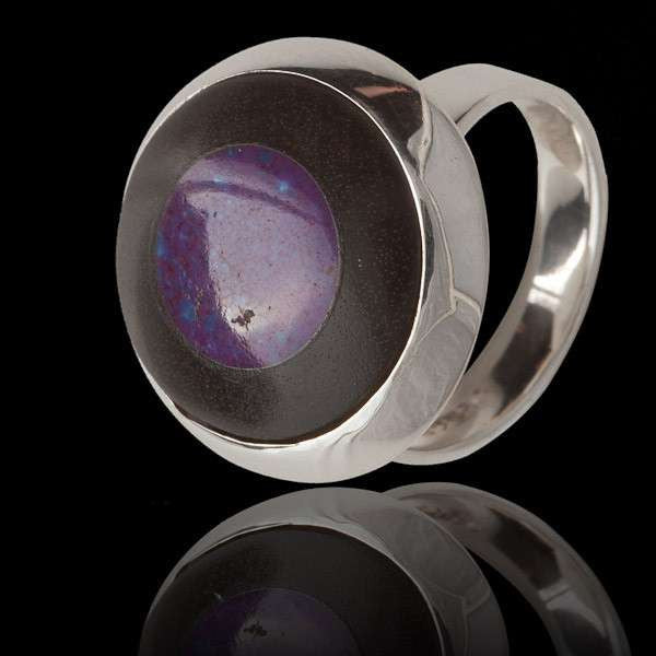 Silver Ring With Semi Precious Stone - Tribu