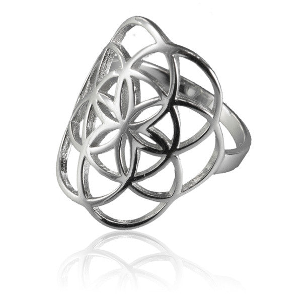 92.5 Silver Seed of Life Ring - Tribu