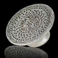 Mystic Flower Tribal Silver Ring - Tribu