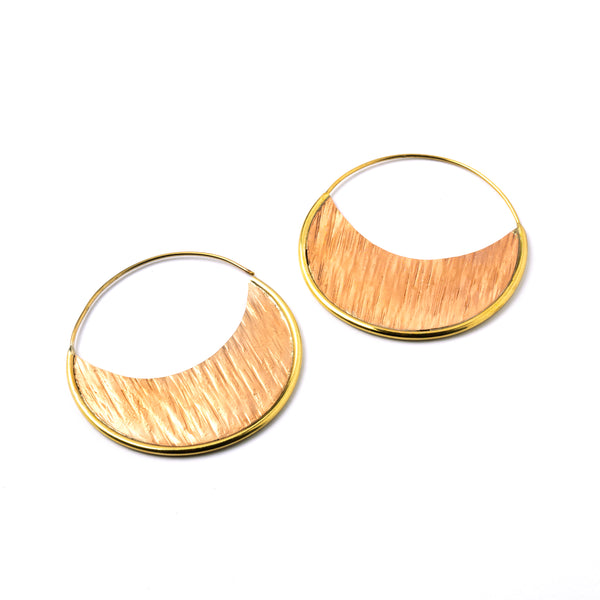 Brass Hoops with Rose Gold Plates