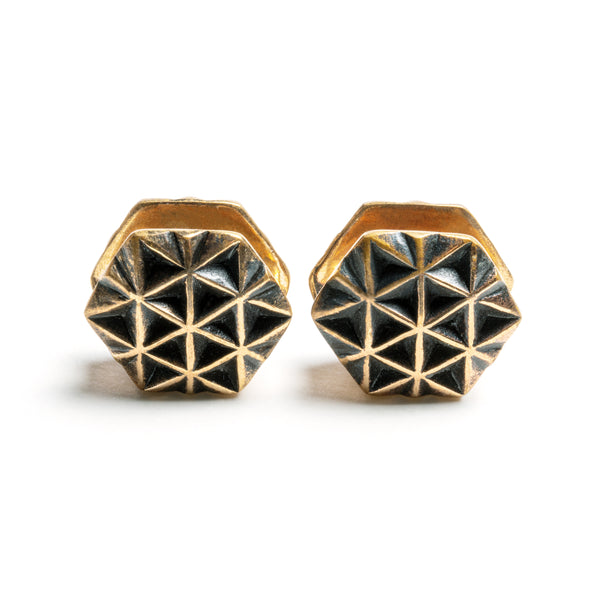 Rose Gold Geometric Mini-Ear Weight
