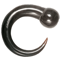 Rounded End Solid Horn Hook