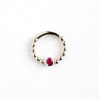 Silver Septum with Ruby