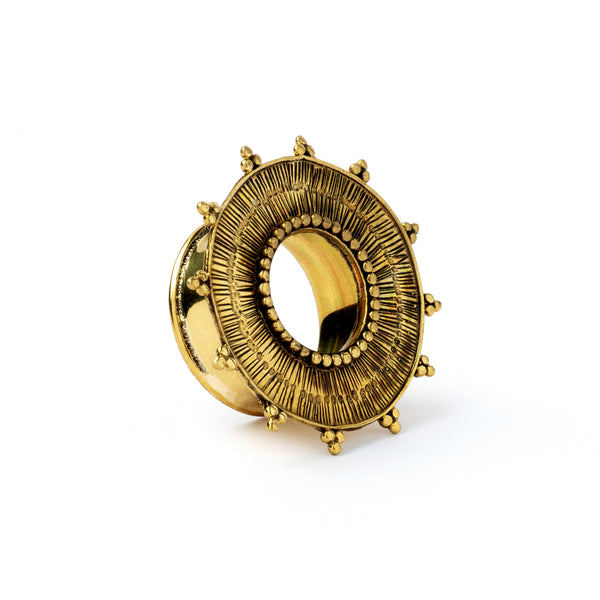 Rustic Sun Brass Flesh Tunnel