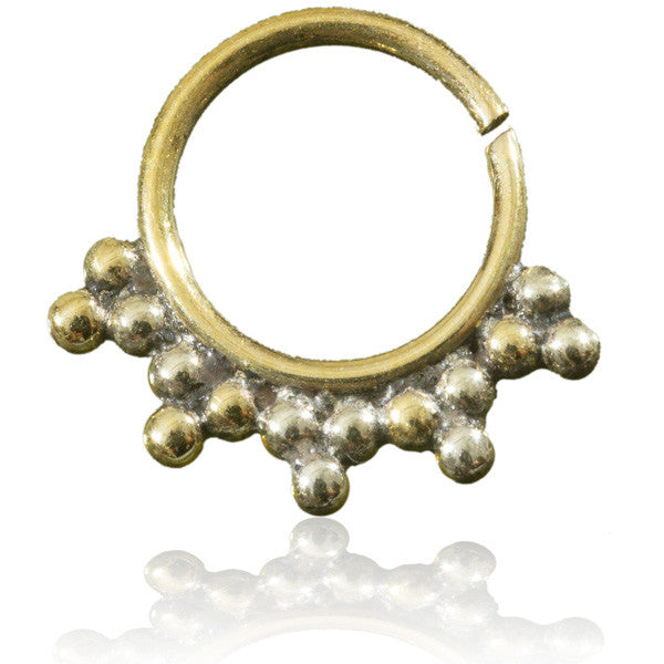 Dots Brass Septum. Tragus/Helix/Cartilage/Nose Ring - Tribu