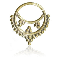 Indian Style Brass Septum.Tragus/Helix/Cartilage/Nose Ring - Tribu