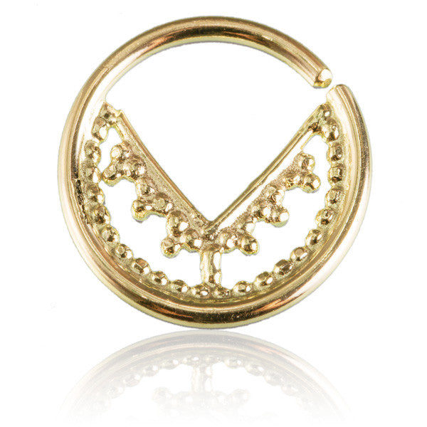 Chandra 14k Gold Septum. Tragus/Helix/Cartilage/Nose Ring - Tribu