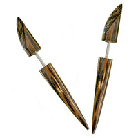 Anjuna Palmwood Fake Gauge Earring - Tribu  - 1