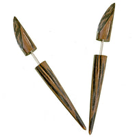 Anjuna Palmwood Fake Gauge Earring - Tribu  - 2