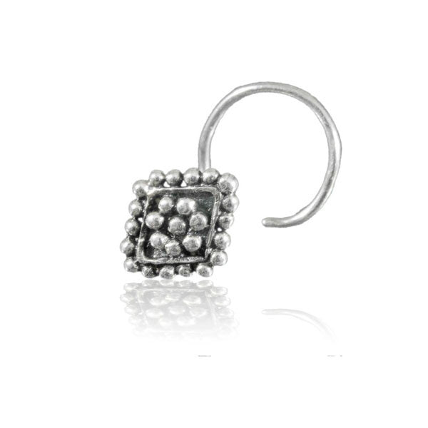 Silver Spheres Flower Nose Stud - Tribu
