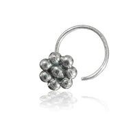 Eight Spheres Flower Silver Nose Stud - Tribu
