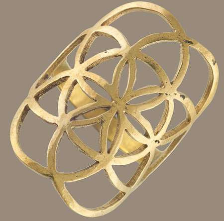 Seed Of Life Ring - Tribu  - 1