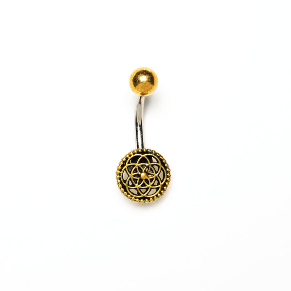 Seed of Life Belly Piercing, Barbell, Belly Bar, Barbell Belly, Belly Piercing Jewellery, Belly Bar Piercing, Navel Bar, Belly Button Ring, Belly Ring, Piercing Jewellery, Body Jewellery, Navel Jewellery, Navel Piercing Ring