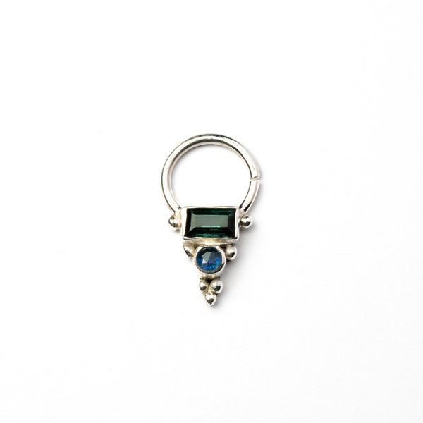 Maha Jaya Septum with Turmaline & Kyanite