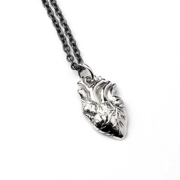 Anatomic Heart Charm Necklace