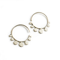 Silver Hook Dot Earrings