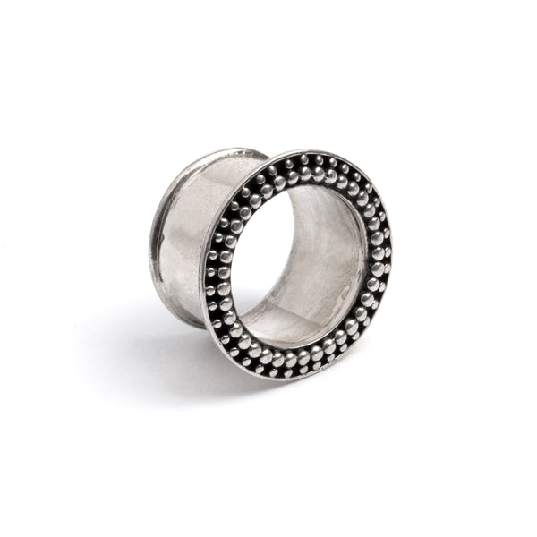 Silver Orbit Ear Tunnel | Tribu Gauge Jewellery