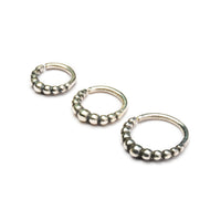 Sterling Silver Spheres Septum Ring