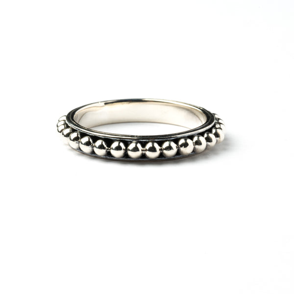 Silver Sphere Band Ring