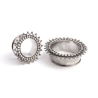 Silver Tara Flesh Tunnel | Tribu Ethnic Jewellery