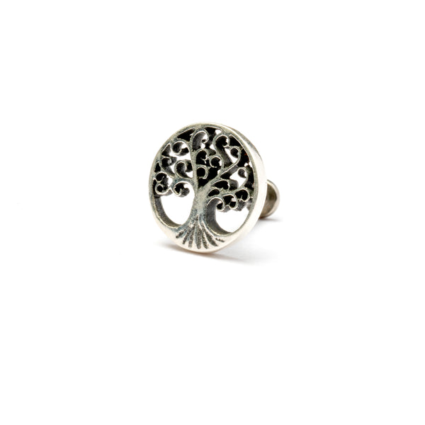 Tree Of Life Silver Tragus