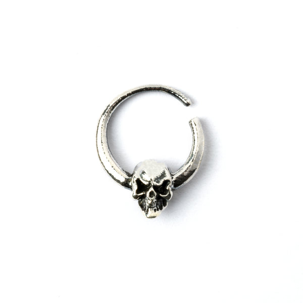 Skull White Brass Septum.Tragus/Helix/Cartilage/Nose Ring