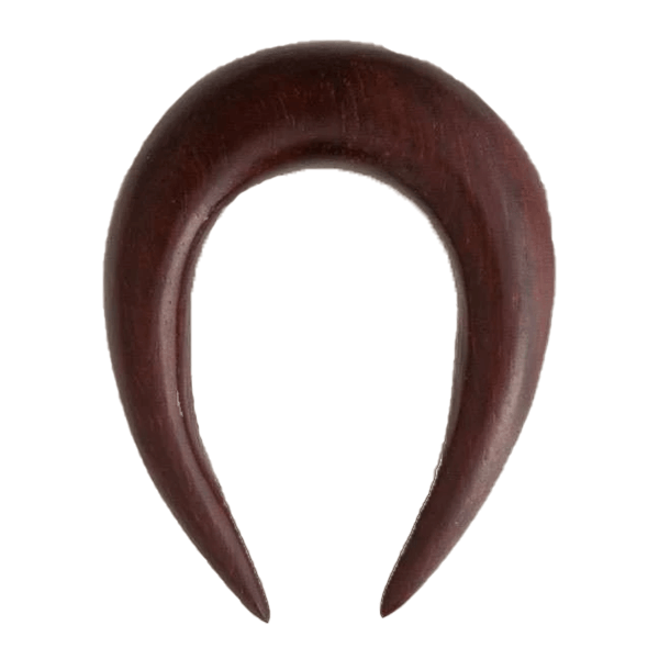 Solid Rose Wood Ear Stretcher in Horse Shoe Shape