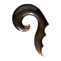 Spiky Open Spiral Solid Horn Hook