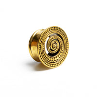 Spiral Brass Flesh Tunnel, Plugs Tunnels Plug Earrings Ear Gauges Ear Plugs Ear Tunnels Plug Tunnels Screw Plugs Ear Stretchers Plugs & Tunnels