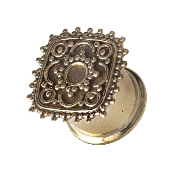 Square Flower Brass Plug