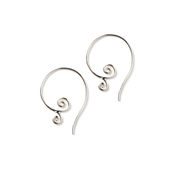 Sterling Silver Tribal Swirl Earrings