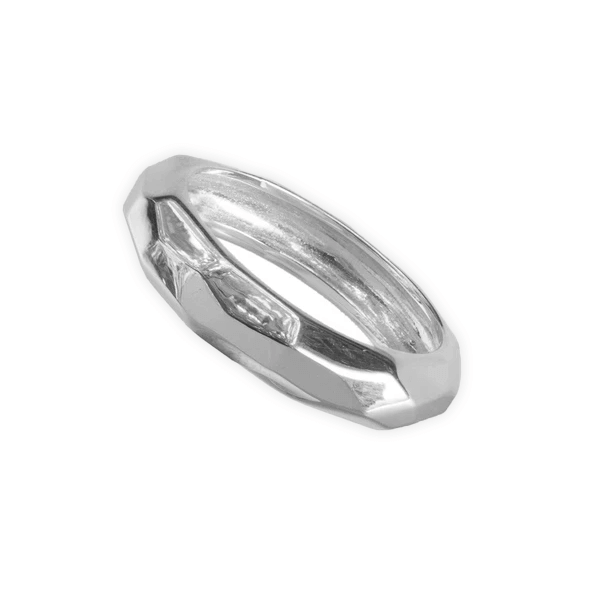 Sterling Silver facet Ring