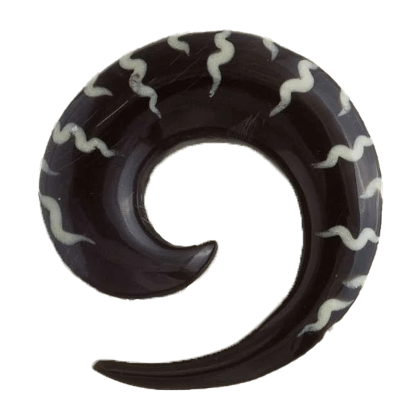 Striped Spiral Horn Hook