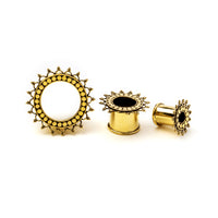 Tara Brass Flesh Tunnel / Ear Gauges / Ear Stretchers / Plug Earrings / Plugs / Tunnels / Plug Tunnels / Ear Tunnels / Screw Plugs / Brass Plug Tunnels / Brass Gauges / Brass Plugs / Brass Tunnels / Gauge Jewellery