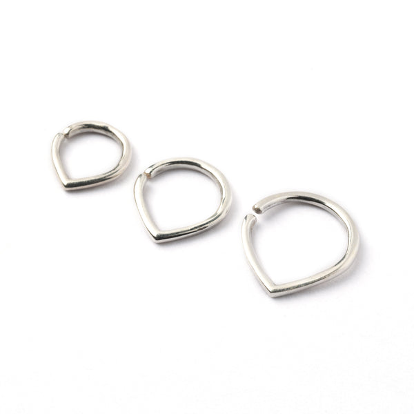 Tear Drop Silver Septum