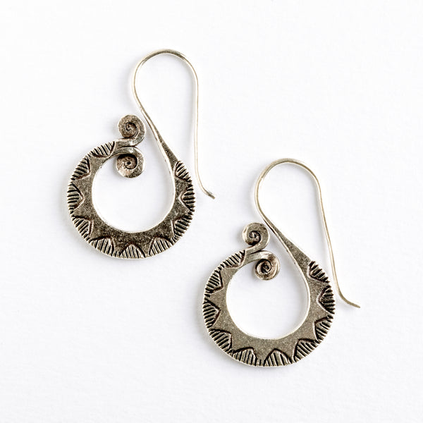 Tribal Silver Fishtail Hooks | Tribu London